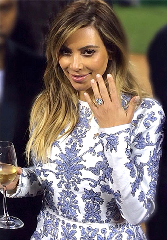 Kim Kardashian - engaged at park